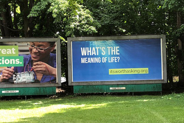 "New Yorkers ask, ""What is the meaning of life?"" 